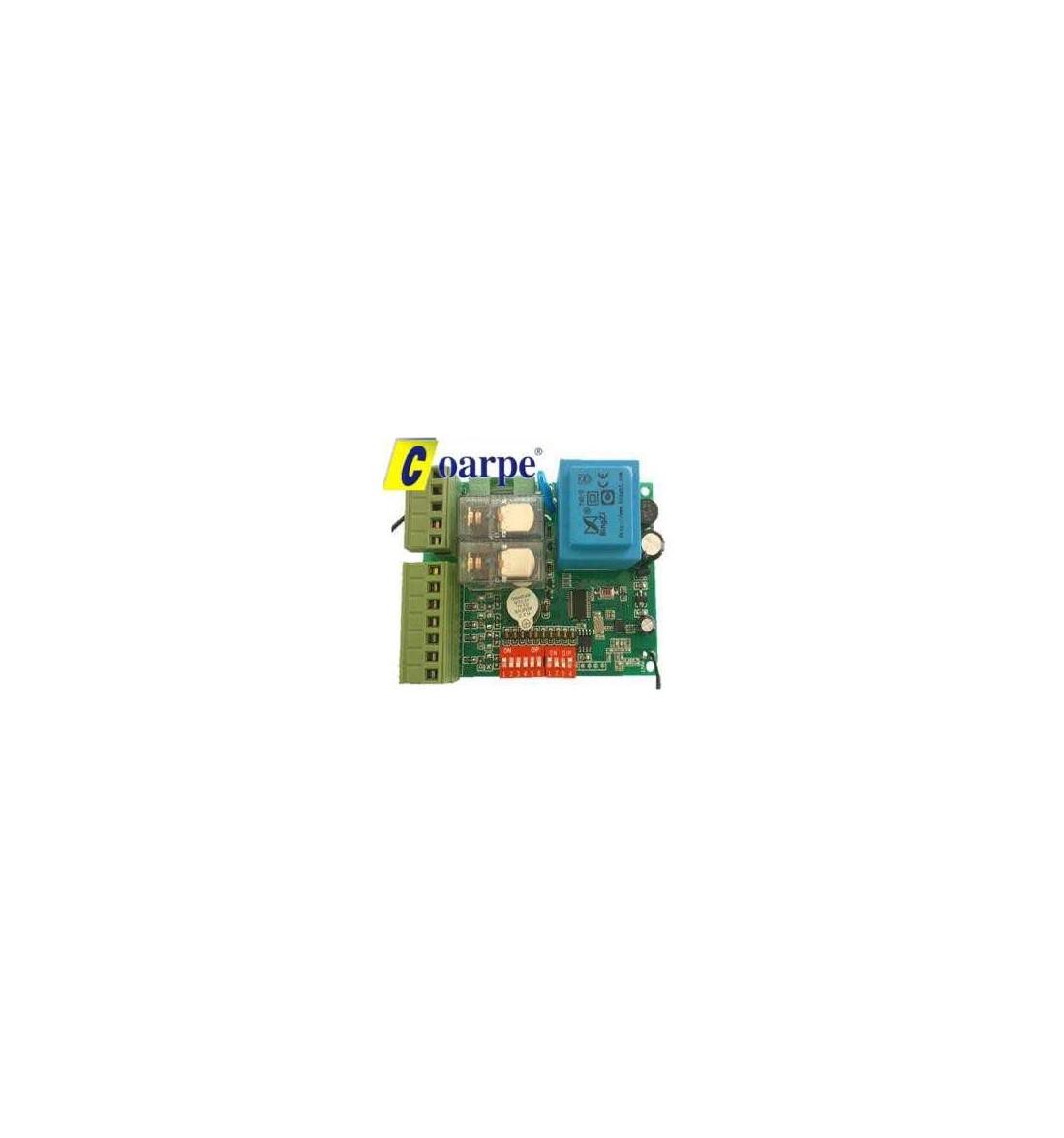 Central receptor multimarca 230V, motores monofásicos, pulsadores independientes