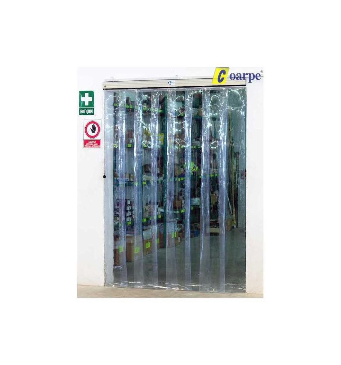 Cortina fija de Lamas 1 Hoja (200x2mm) PVC 2500x3000