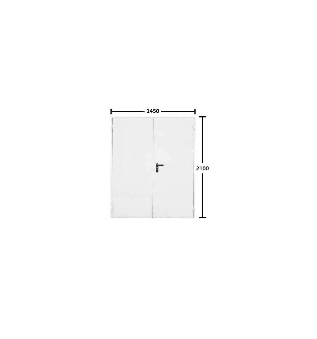 Puerta multiusos 2 hojas 1450*2100 sin ventilación